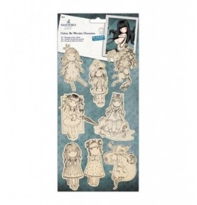 "Gorjuss 6 x 6"" Framed Decoupage Card Kit - Santoro Tweed"