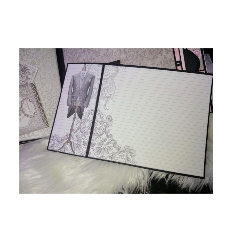 Graphic 45 Rectangle Tag & Pocket Album Black