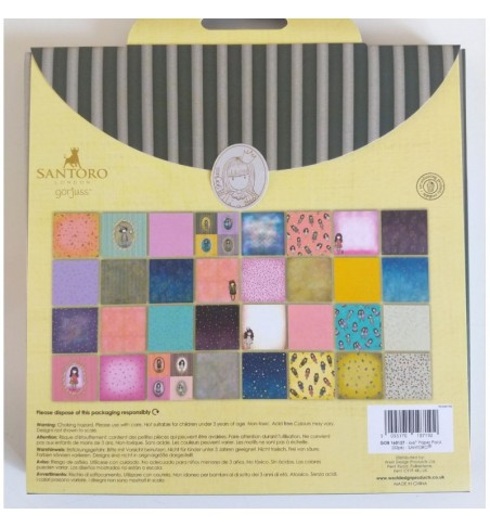 Gorjuss Rubber Stamps - Santoro Tweed - The Friendly Hedgehog